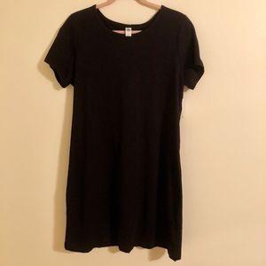 NWT Black Knit Tee Dress